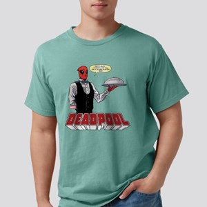 Deadpool Silver Platter Mens Comfort Colors Shirt