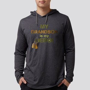 Dog Tag Hero Grandson Mens Hooded Shirt
