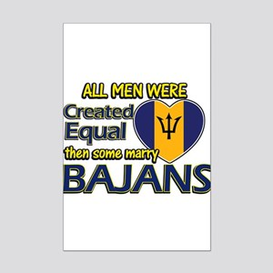 Bajans wife designs Mini Poster Print