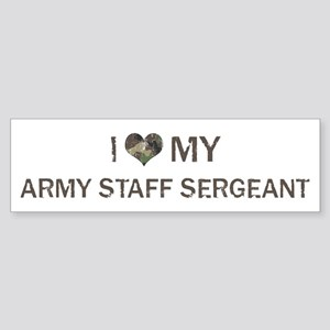 Army Staff Sergeant: Love - V Bumper Sticker