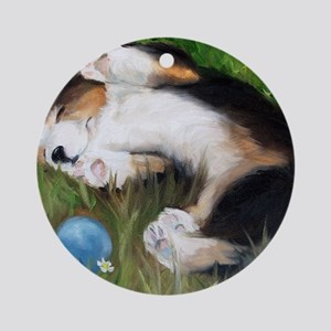 Bliss in the Grass Round Ornament