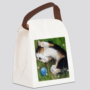 Bliss in the Grass Canvas Lunch Bag