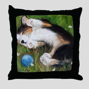 Bliss in the Grass Throw Pillow