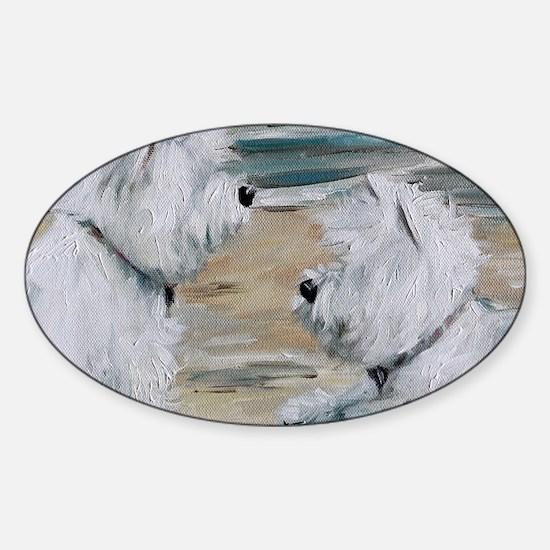 Salty Dawgs Sticker (Oval)