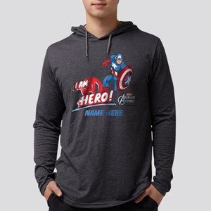 3269_Avengers Assemble Captain A Mens Hooded Shirt