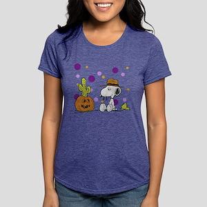 Spike pumpkin cactus2 Womens Tri-blend T-Shirt