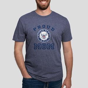 Proud US Navy Mom Mens Tri-blend T-Shirt