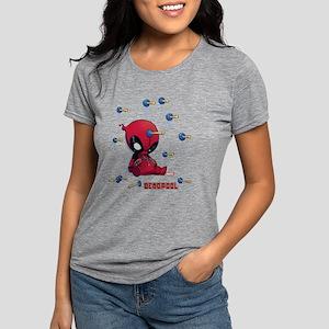 Deadpool Toy Darts Womens Tri-blend T-Shirt fbdbf2991