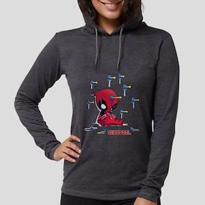Deadpool Toy Darts Womens Hooded Shirt