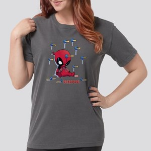 Deadpool Toy Darts Womens Comfort Colors Shirt