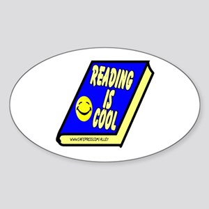Reading is Cool Oval Sticker