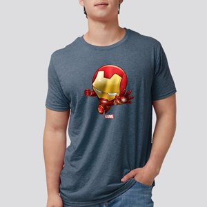 Chibi Iron Man 2 Mens Tri-blend T-Shirt