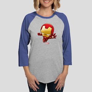 Chibi Iron Man 2 Womens Baseball Tee