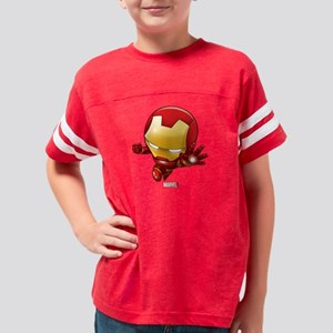 Chibi Iron Man 2 Youth Football Shirt