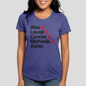 HTGAWM Character Names Womens Tri-blend T-Shirt