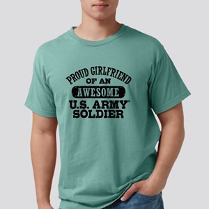 pgirlfriendawesomearmy55 Mens Comfort Colors Shirt