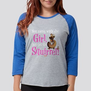 Squirrel Girl Mess with the Gi Womens Baseball Tee