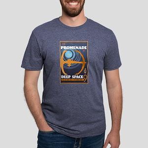 The Promenade at Deep Space Mens Tri-blend T-Shirt