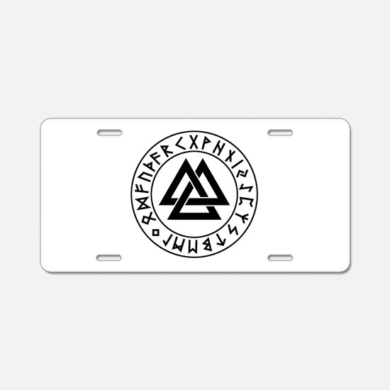 valknut Aluminum License Plate