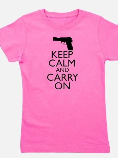 Keep Calm and Carry On Girl's Tee