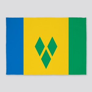 Saint Vincent Grenadines Flag 5'x7'Area Rug