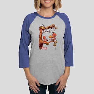 Squirrel Girl Branch Light Womens Baseball Tee