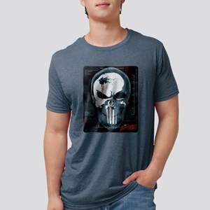 Punisher Skull X-Ray Mens Tri-blend T-Shirt