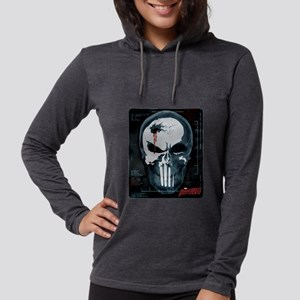 Punisher Skull X-Ray Womens Hooded Shirt