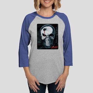 Punisher Skull X-Ray Womens Baseball Tee