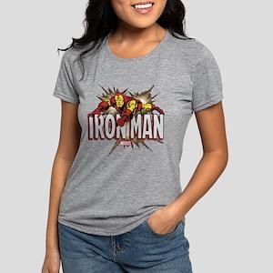Iron Man Flying Womens Tri-blend T-Shirt
