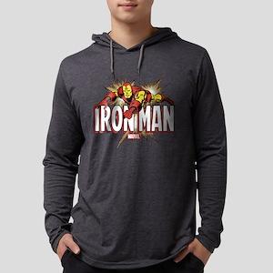 Iron Man Flying Mens Hooded Shirt