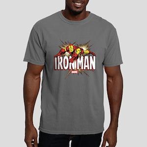 Iron Man Flying Mens Comfort Colors Shirt