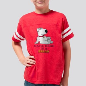 Family Guy Brian Personalized Youth Football Shirt