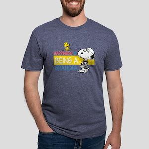 HappinessIsGrandpa Mens Tri-blend T-Shirt
