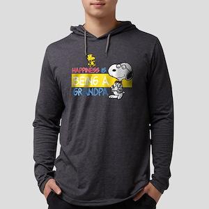 HappinessIsGrandpa Mens Hooded Shirt