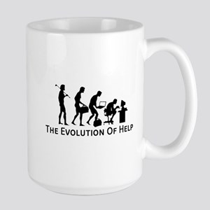 The Evolution of Help Mug