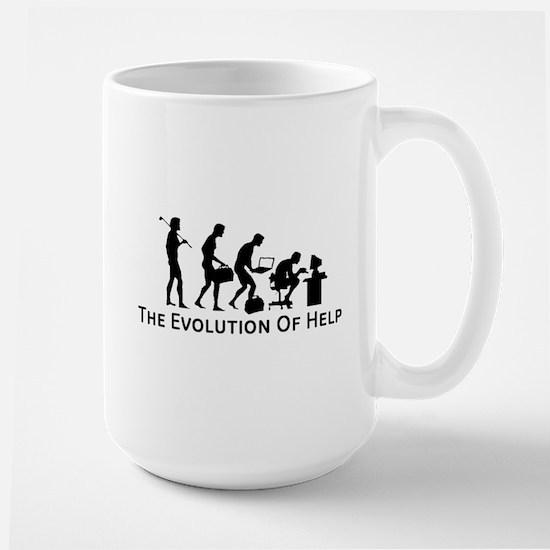 The Evolution of Help Mug