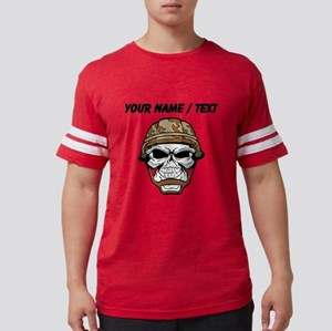Custom Soldier Skull Mens Football Shirt