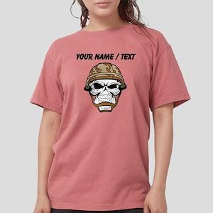 Custom Soldier Skull Womens Comfort Colors Shirt