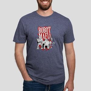 Futurama Robot Mafia Dark Mens Tri-blend T-Shirt