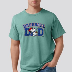 Snoopy - Baseball Dad Mens Comfort Colors Shirt