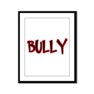 Bullying Bully Framed Panel Print