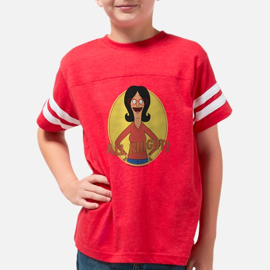 Bob's Burgers All Right Light Youth Football Shirt