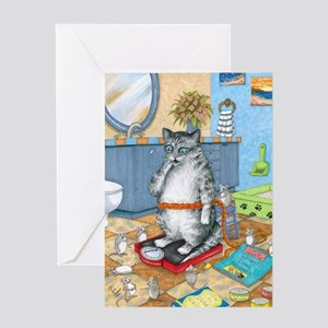 Cat 579 Greeting Card