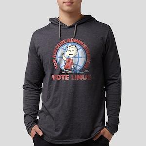 Vote Linus (dark) Mens Hooded Shirt