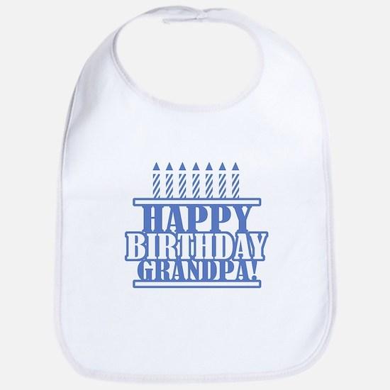 Happy Birthday Grandpa Bib