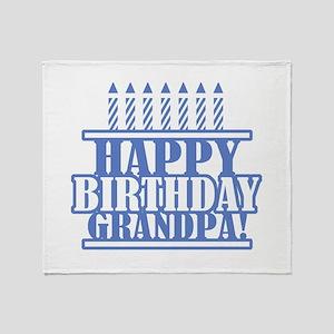 Happy Birthday Grandpa Throw Blanket