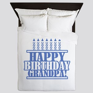 Happy Birthday Grandpa Queen Duvet