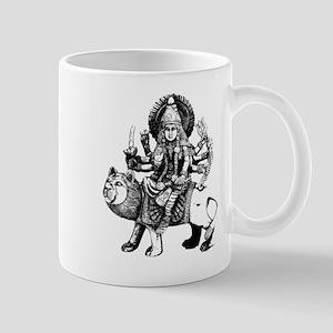 Durga Black Mug