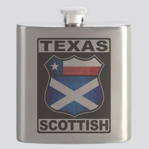 Texas Scottish American Flask
